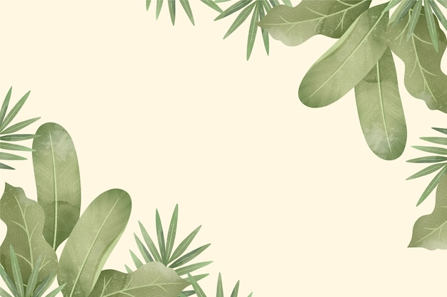 Kreatywnie tropikalny tło z pustą przestrzenią