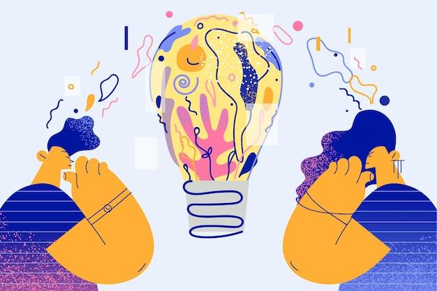 Kreatywność i nowe pomysły jako ilustracja koncepcji innowacji