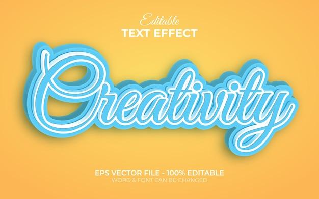 Kreatywność motyw stylu skryptu efekt tekstowy edytowalny efekt tekstowy