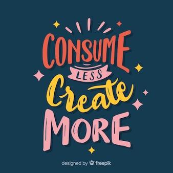 Kreatywność napis tło z kolorami