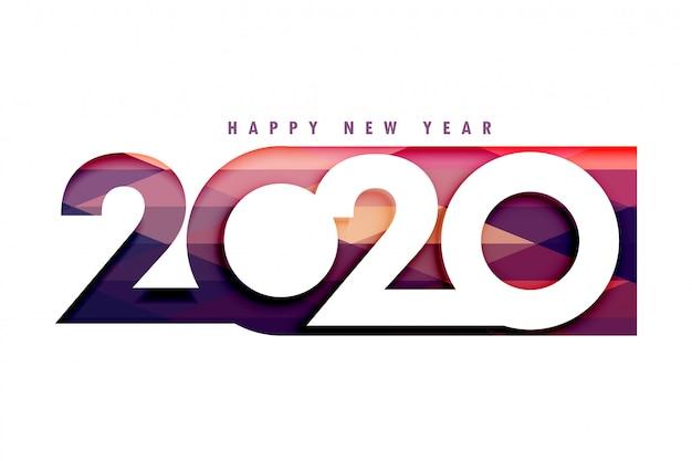 Kreatywny 2020 szczęśliwego nowego roku stylowy