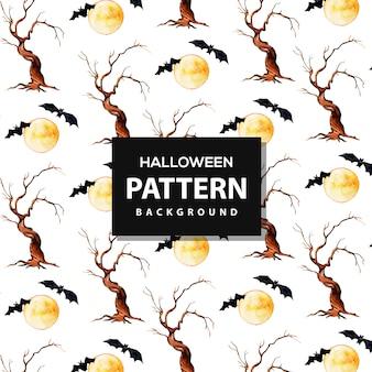 Kreatywny akwarela wzór halloween tło