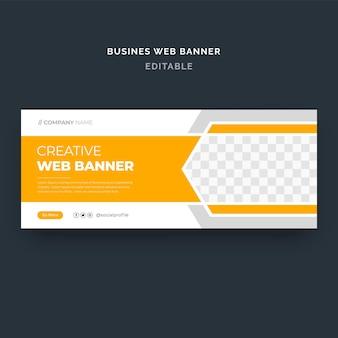 Kreatywny baner internetowy dla biznesu