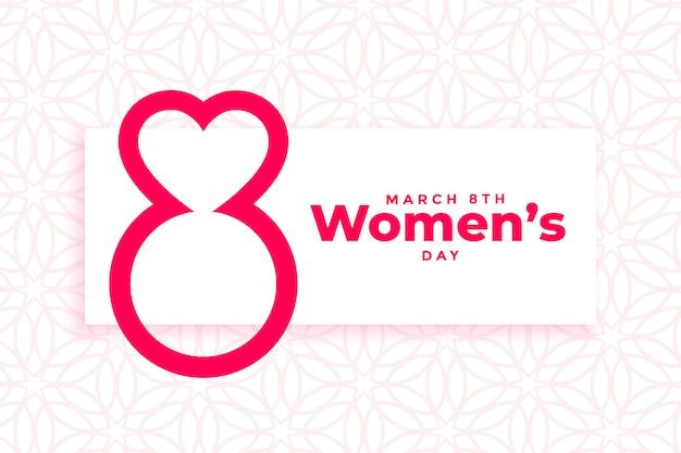 Kreatywny banner z okazji międzynarodowego dnia kobiet