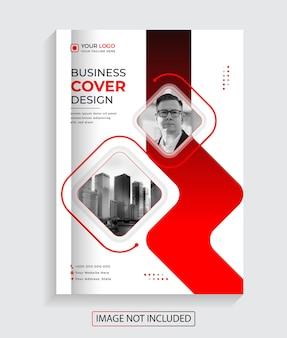 Kreatywny biznes korporacyjny projekt okładki książki premium vector