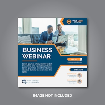 Kreatywny biznes marketingowy szablon postu w mediach społecznościowych