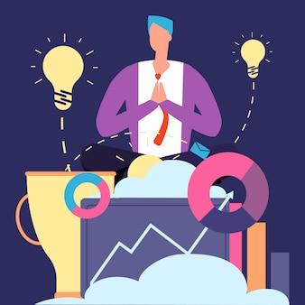 Kreatywny biznesmen relaksujący
