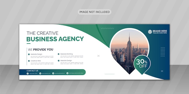 Kreatywny biznesowy projekt okładki na facebooka lub projekt banera internetowego