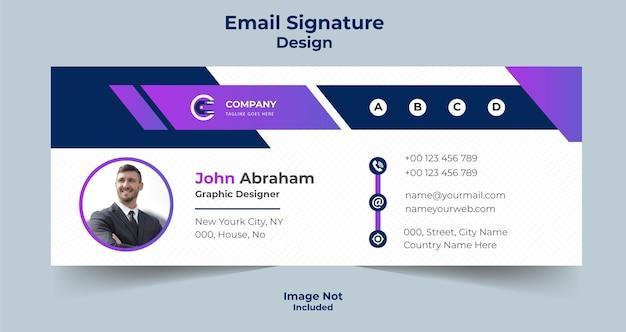 Kreatywny biznesowy projekt podpisu e-mail