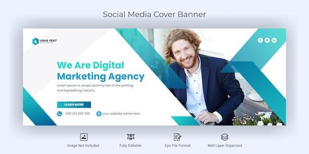 Kreatywny biznesowy szablon banera okładki na facebooka w mediach społecznościowych