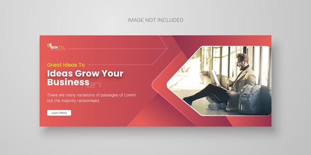 Kreatywny biznesowy szablon banera społecznościowego z projektem okładki na facebooku premium wektorów