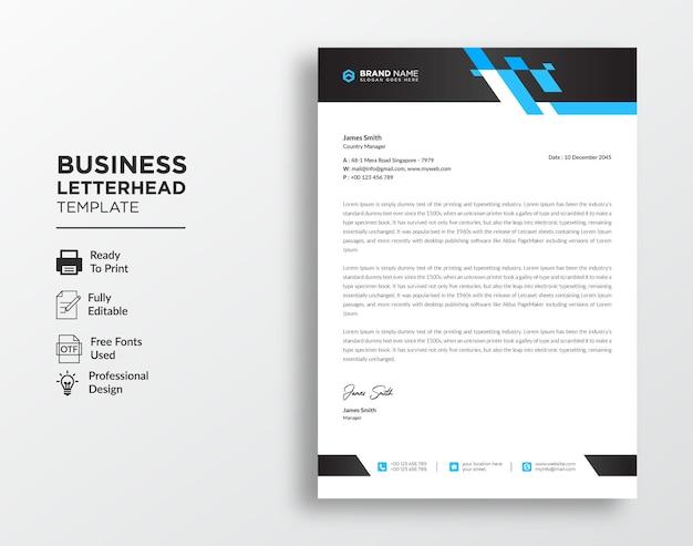 Kreatywny biznesowy szablon firmowy