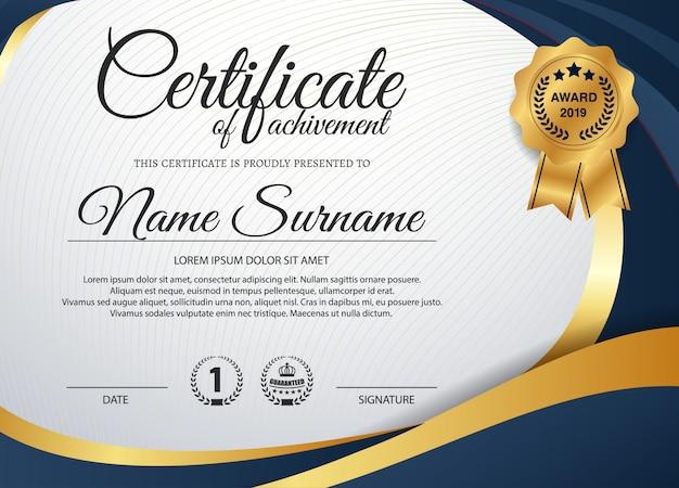 Kreatywny certyfikat uznania szablon nagrody