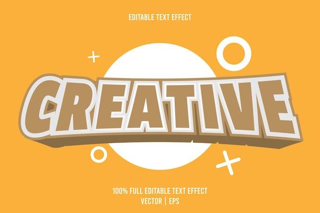 Kreatywny edytowalny efekt tekstowy 3-wymiarowy tłoczony styl kreskówek