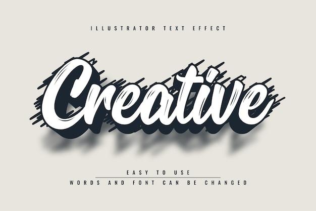Kreatywny - edytowalny efekt tekstowy ilustratora
