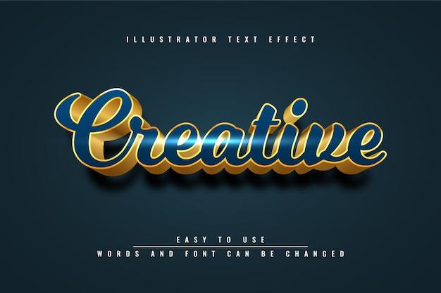Kreatywny - edytowalny projekt efektu tekstu