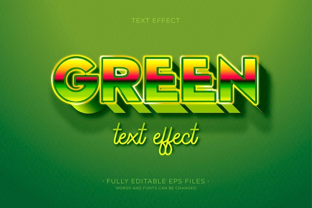 Kreatywny efekt zielonego tekstu