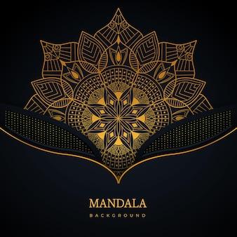 Kreatywny elegancki projekt tła mandali