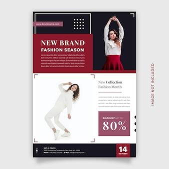 Kreatywny i nowoczesny projekt promocji sprzedaży mody szablon ulotki i broszury w formacie a4