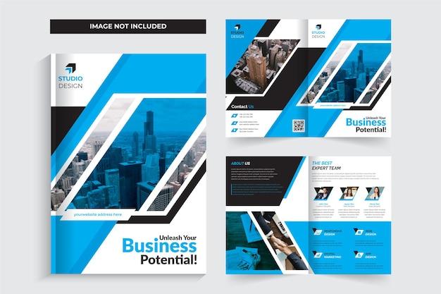 Kreatywny i nowoczesny szablon broszury bifold