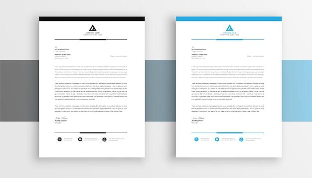Kreatywny i profesjonalny szablon projektu papieru firmowego