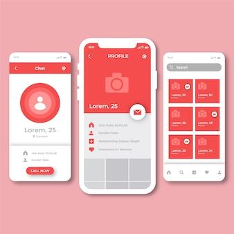 Kreatywny interfejs aplikacji randkowej
