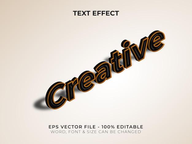 Kreatywny izometryczny styl efektu tekstowego edytowalny efekt tekstowy