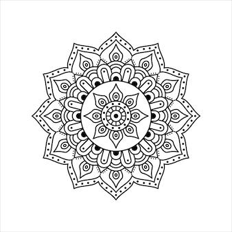 Kreatywny kontur mandali