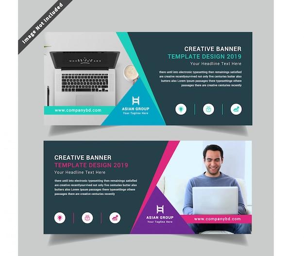 Kreatywny korporacyjny podwójny szablon flyer