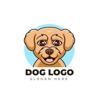 Kreatywny kreskówka pies sklep zoologiczny maskotka ładny projekt logo zwierząt