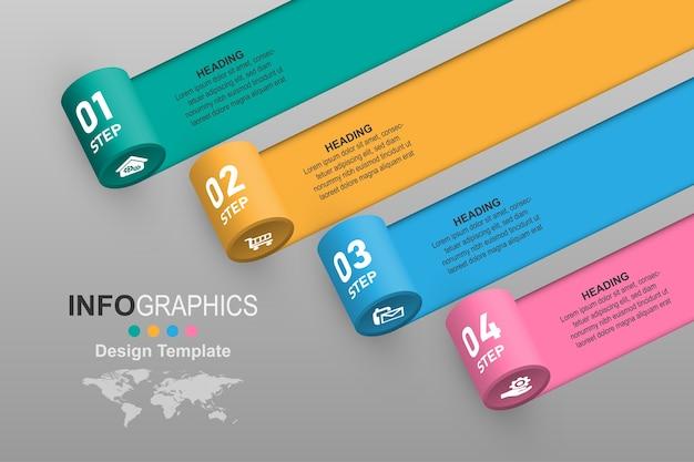 Kreatywny krok graficzny toczący się baner plansza