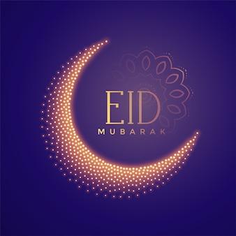 Kreatywny księżyc wykonany z cząstkami eid w tle