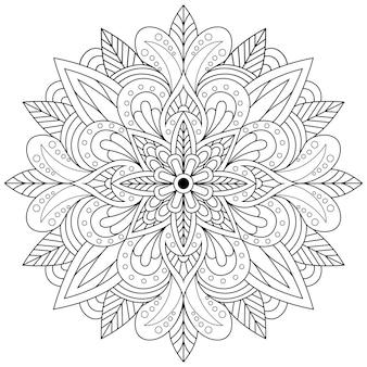 Kreatywny luksus ilustracji mandali