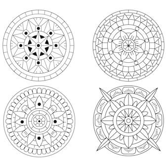 Kreatywny luksusowy zestaw ilustracji mandali