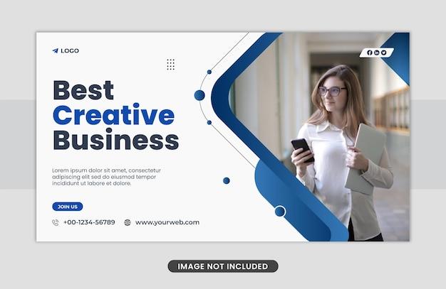 Kreatywny marketing biznesowy szablon banera internetowego