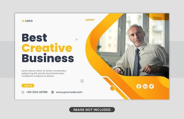 Kreatywny marketing biznesowy szablon projektu banera internetowego