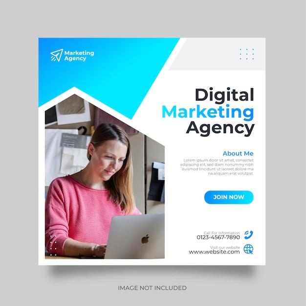 Kreatywny marketing cyfrowy lub szablon postów w mediach społecznościowych i banerów internetowych