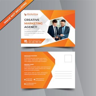 Kreatywny marketingowy projekt pocztówki