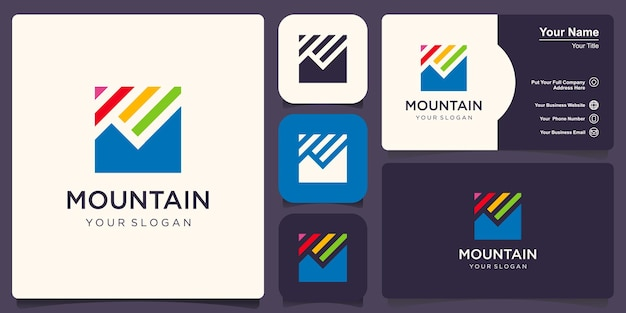 Kreatywny minimalistyczny szablon projektu mountain logo