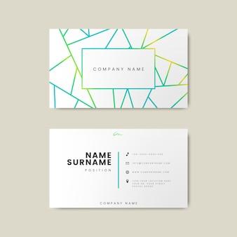 Kreatywny minimalny i nowoczesny projekt wizytówki wyposażony w geometryczne kształty