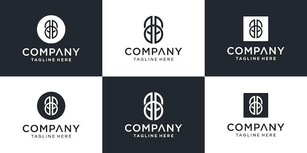 Kreatywny monogram list bb inspiracja projektowaniem logo