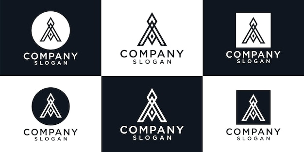 Kreatywny monogram list projekt logo