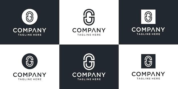 Kreatywny monogram litera g inspiracja do projektowania logo