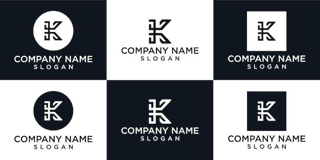 Kreatywny monogram litera k logo szablon