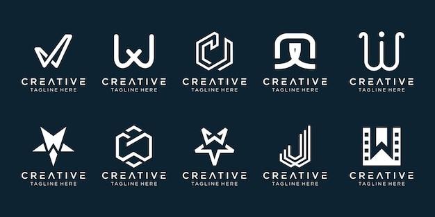 Kreatywny monogram litera w logo i ikony dla biznesu mody sport automotive