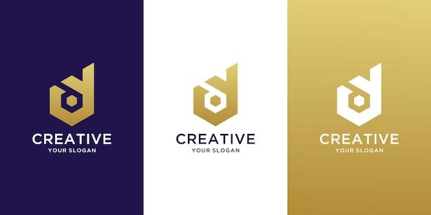 Kreatywny monogram początkowa litera yd logo