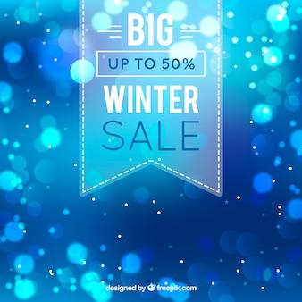 Kreatywny niebieski zimowy projekt sprzedaży