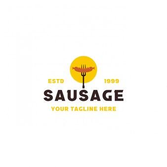 Kreatywny nowoczesny projekt logo kiełbasy