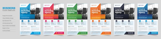 Kreatywny nowoczesny projekt ulotek firmowych ulotka firmowaprojekt ulotek firmowych