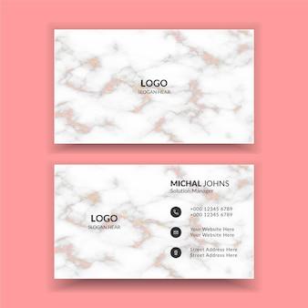Kreatywny nowoczesny szablon wizytówki z czarno-białymi detalami